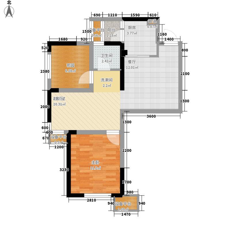 华润置地广场68.80㎡4-A1户型1室2厅