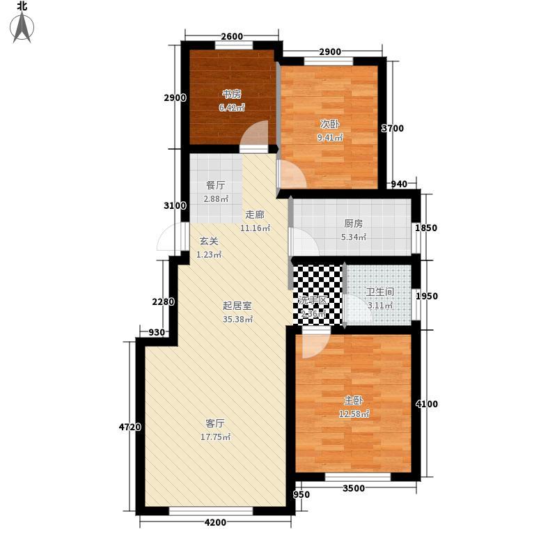 远创紫樾台96.00㎡户型3室2厅
