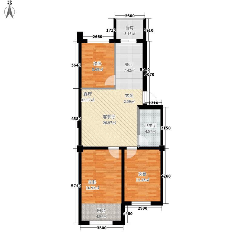 南山学府94.14㎡户型3室2厅