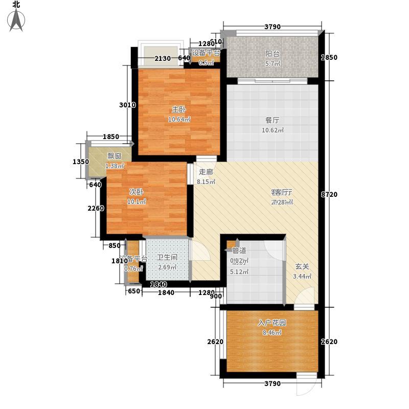 三友香澜半岛H2户型2室2厅