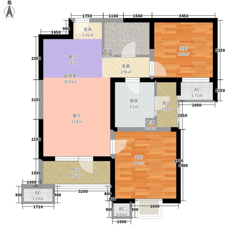 海景文苑99.00㎡高层6#、9#标准层C3户型2室1厅
