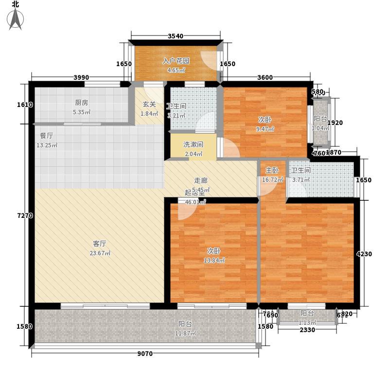 海秀花园130.00㎡B户型3室2厅