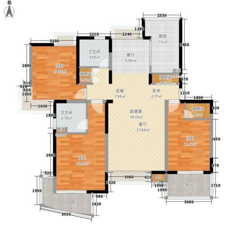 舒诗康庭3室0厅2卫1厨113.00㎡户型图