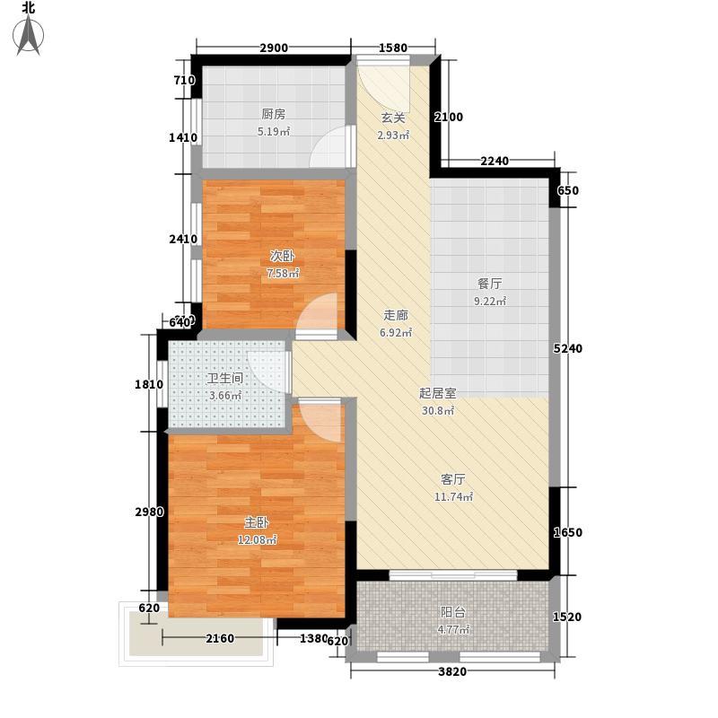 天地湾户型2室2厅
