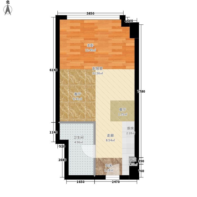 金汇铂悦假日广场42.00㎡公寓BOSS公寓户型1室1厅