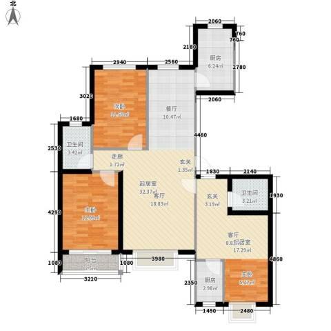 御湖国际2室0厅2卫2厨129.00㎡户型图