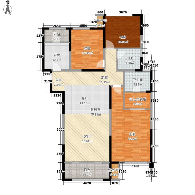 融汇爱都136.21㎡6#楼A2户型3室2厅