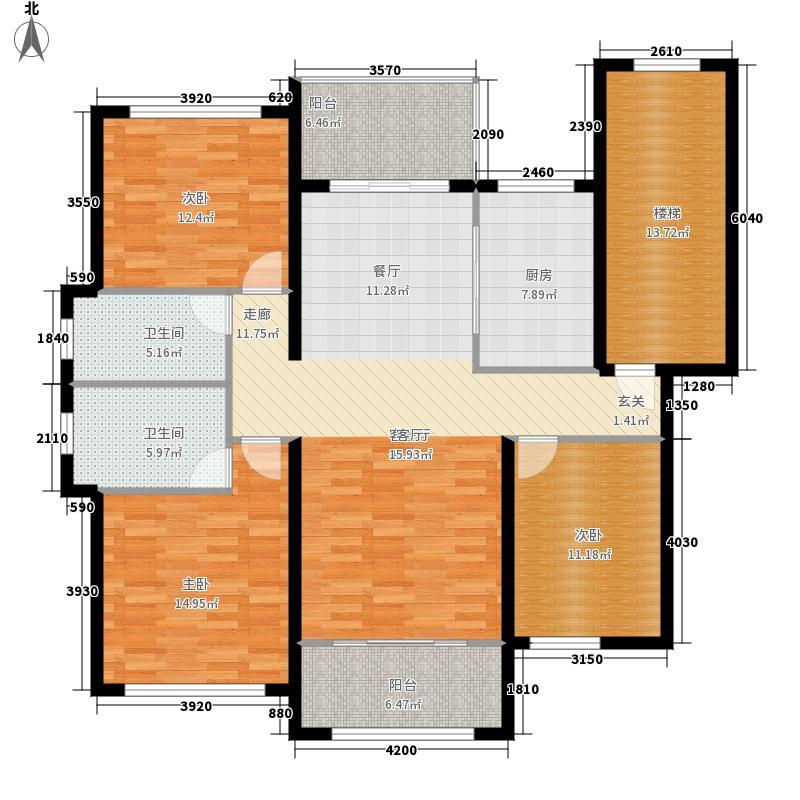 凤仪庄园130.00㎡F户型3室2厅