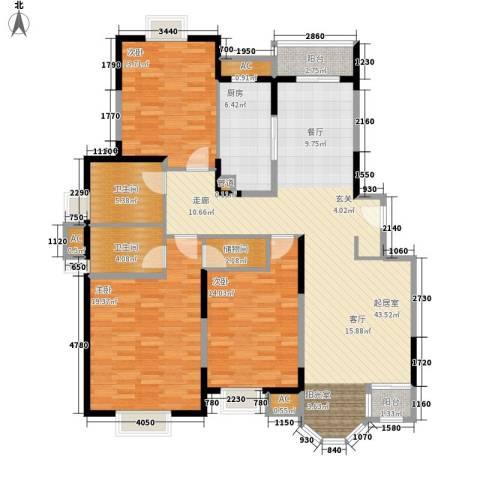 合生城邦三街坊3室0厅2卫1厨162.00㎡户型图