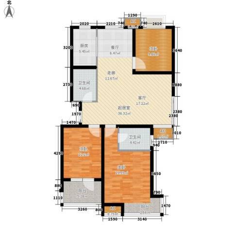 荣盛・阿尔卡迪亚3室0厅2卫1厨116.00㎡户型图