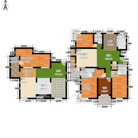 马陆清水湾公寓4室1厅3卫1厨200.00㎡户型图