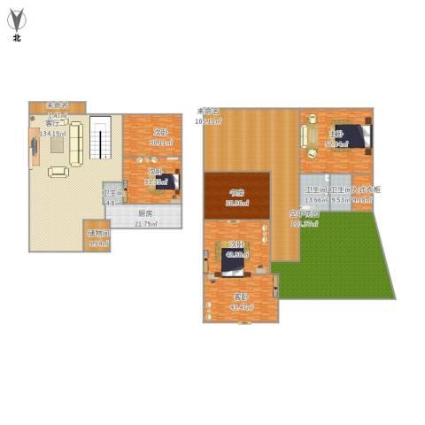 阳光花地6室1厅3卫1厨862.00㎡户型图
