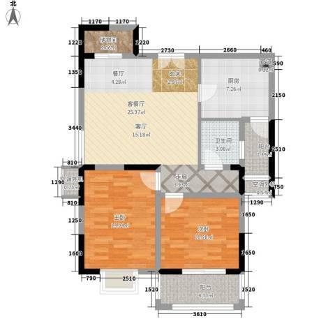 隆昊昊天园2室1厅1卫1厨89.00㎡户型图