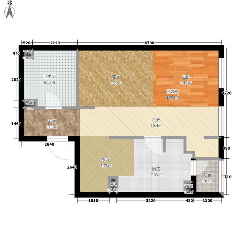 芥园58.34㎡一期1号楼标准层G户型