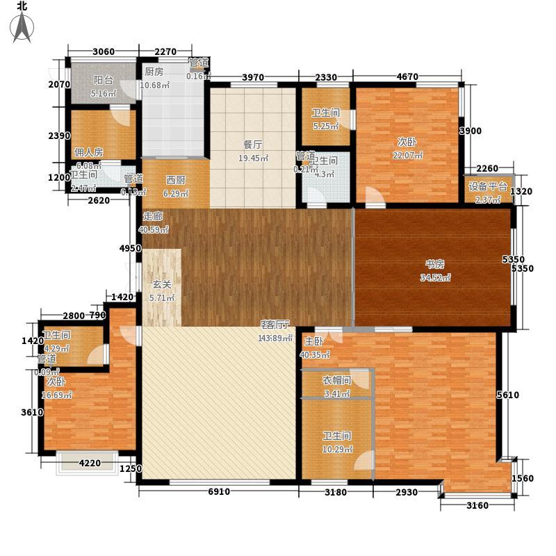 阳光·汾河湾312.07㎡三居户型3室3厅