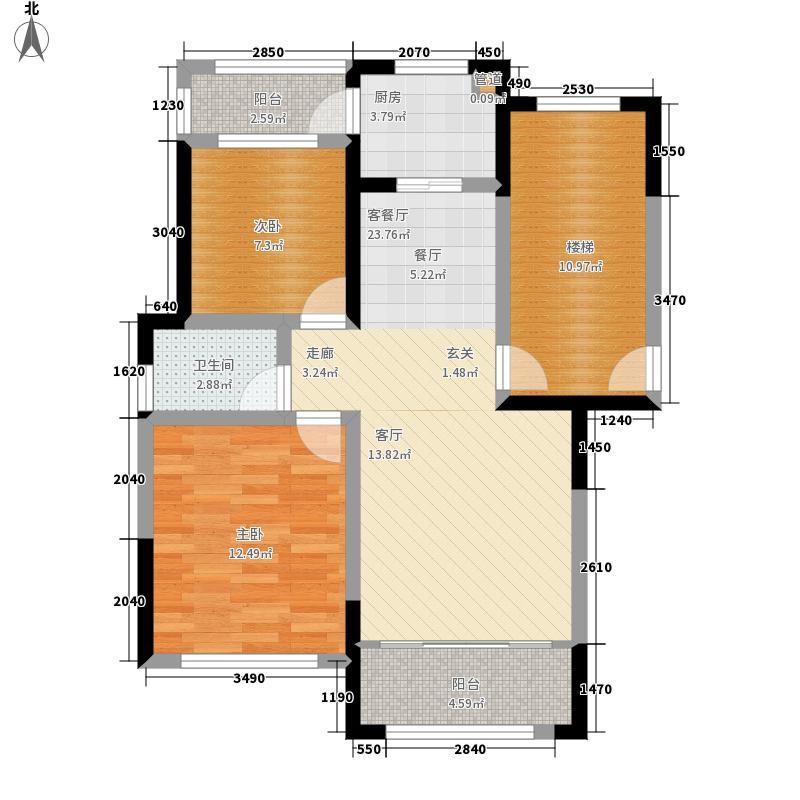 凤仪庄园80.00㎡B户型2室2厅