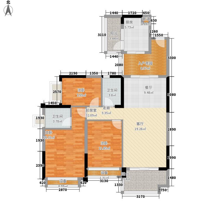 雅居乐·森岚118.00㎡户型3室2厅