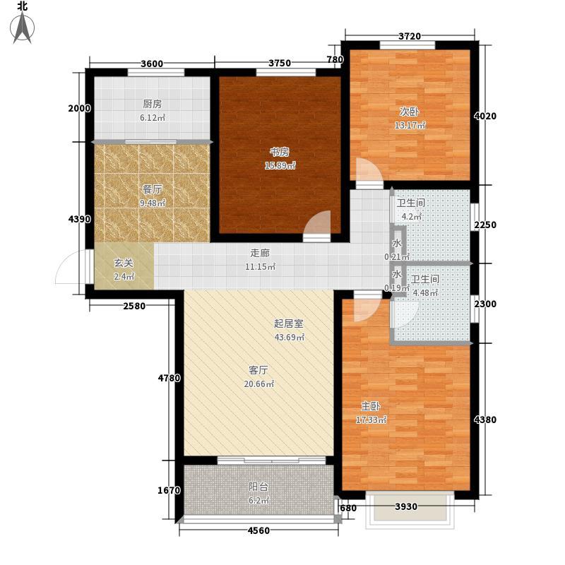 良城国际2期御景125.82㎡5#1-A户型3室2厅