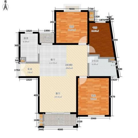 建邦16区3室0厅1卫1厨123.00㎡户型图