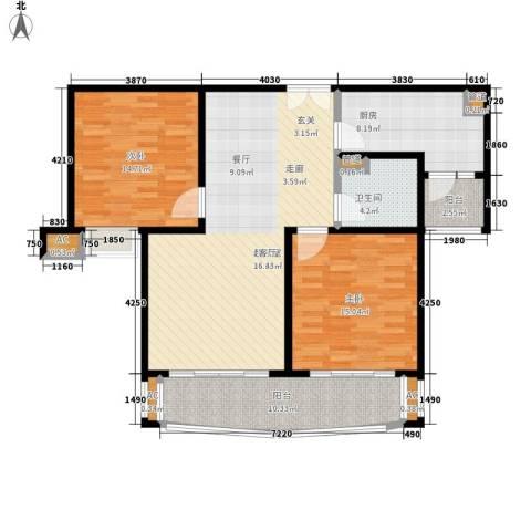建邦16区2室0厅1卫1厨101.00㎡户型图