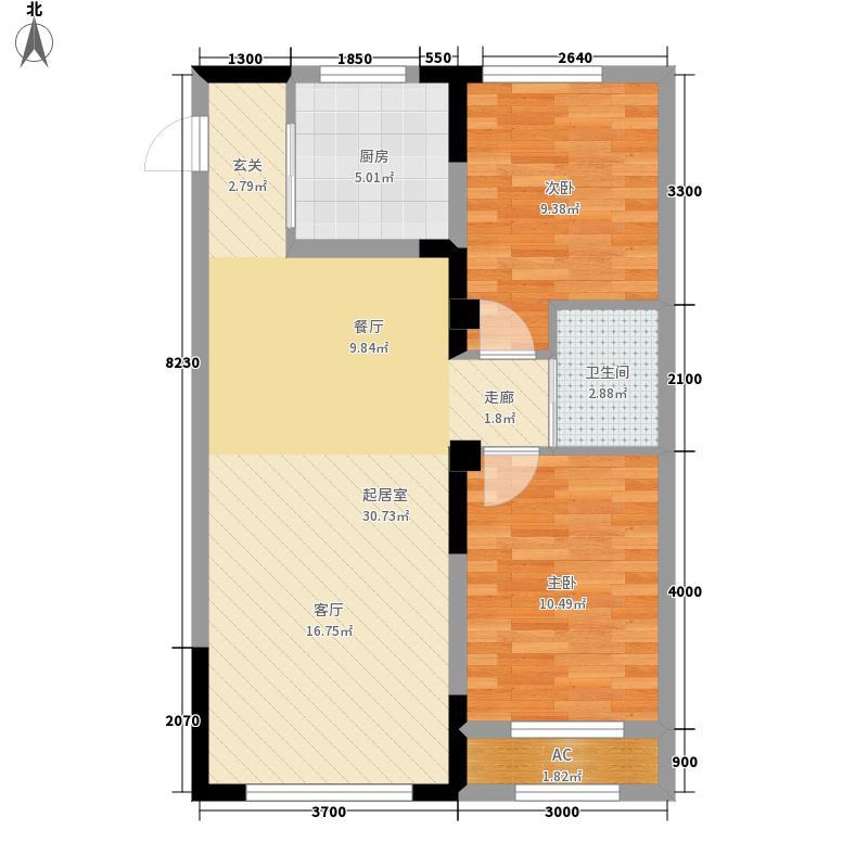 青旅福润家园85.57㎡2#、3#楼03户型