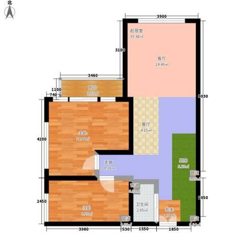 塞纳公馆2室0厅1卫0厨97.00㎡户型图