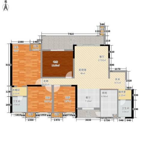 金科云湖天都4室0厅2卫1厨151.00㎡户型图