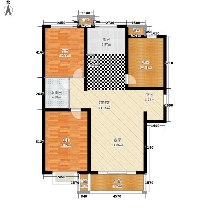 骏景豪庭119.00㎡2号楼+4户型3室2厅