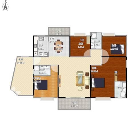 茂名丽景苑3室1厅3卫1厨210.00㎡户型图