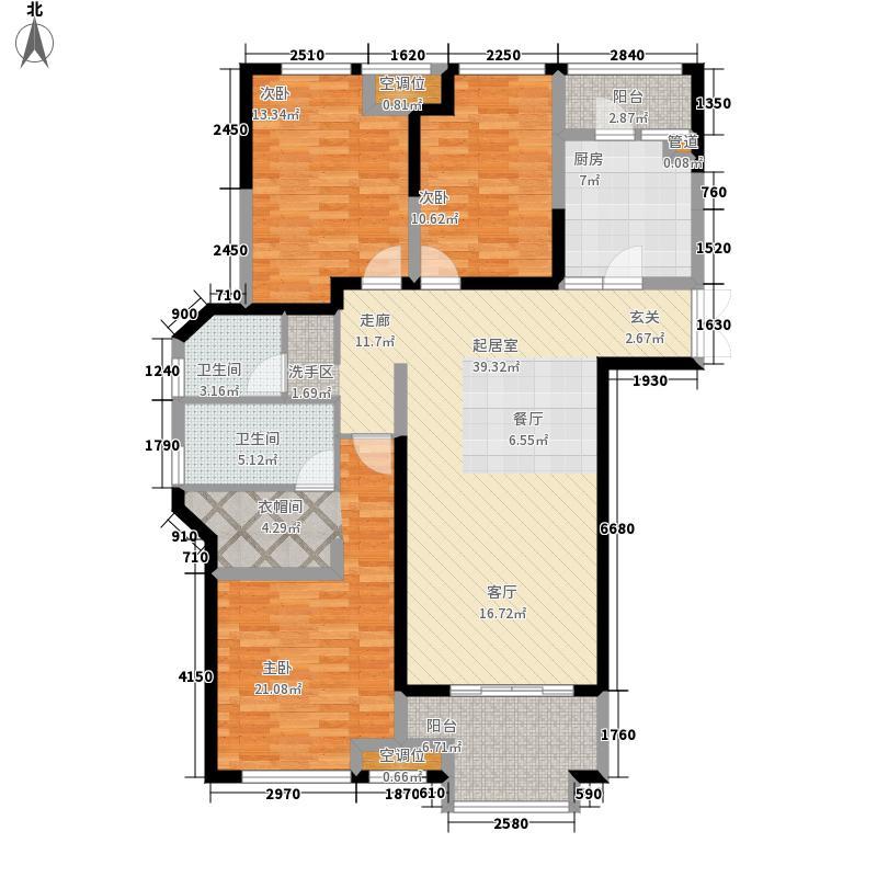 梅岭国际128.00㎡户型3室2厅