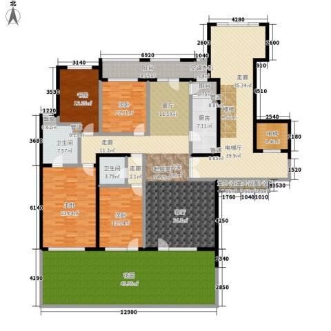 西山华府4室0厅2卫1厨243.84㎡户型图