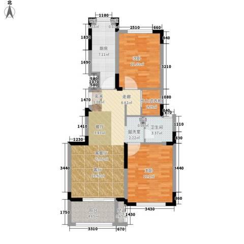 虹桥宝龙城2室1厅1卫1厨81.00㎡户型图