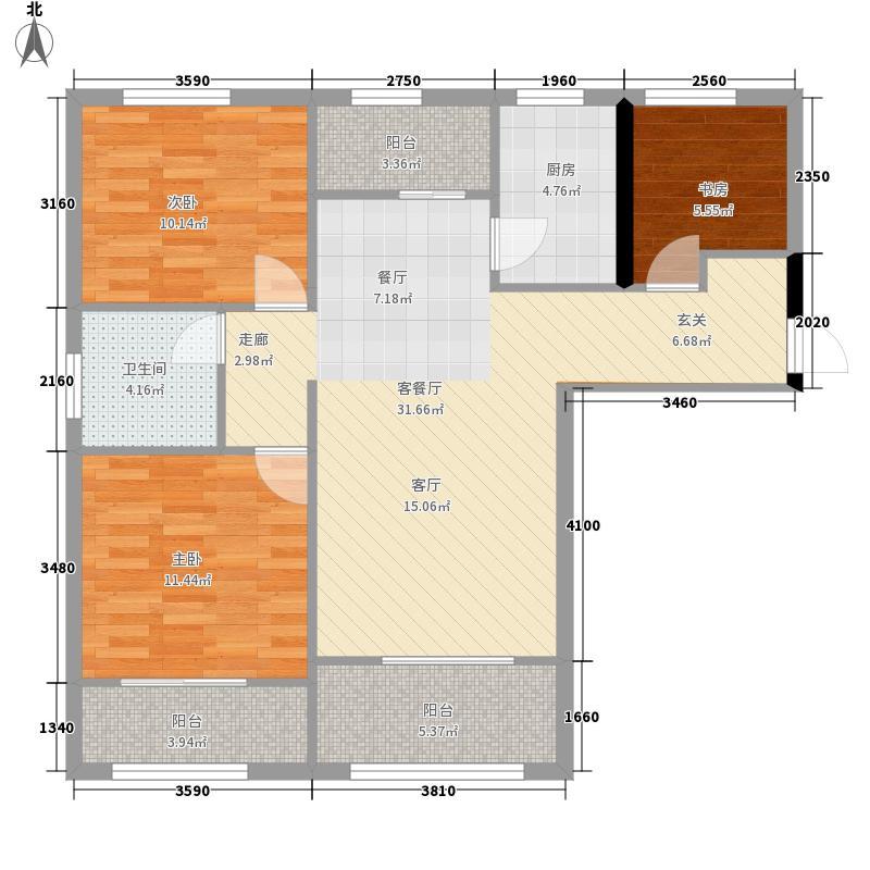 琅琊台家园90.00㎡A2户型3室2厅