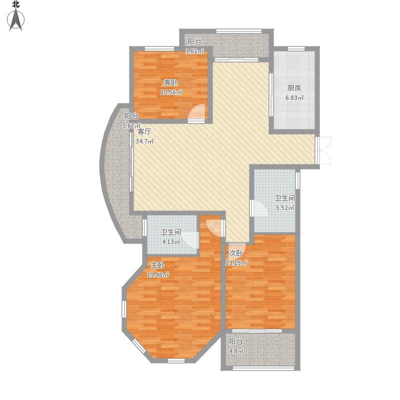 美兰花园138平3室2厅2卫