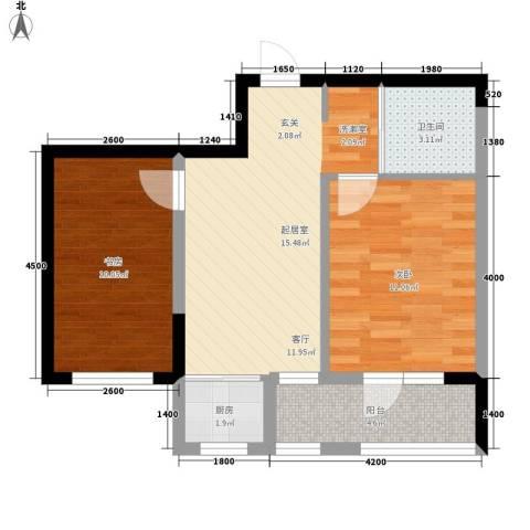 青旅福润家园2室0厅1卫1厨65.00㎡户型图