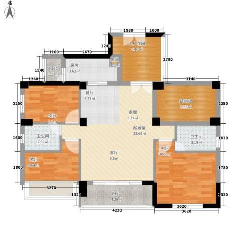 中正花园3室0厅2卫1厨109.00㎡户型图