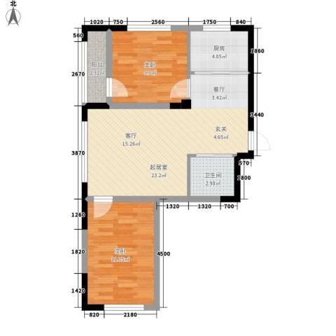 青旅福润家园2室0厅1卫1厨78.00㎡户型图