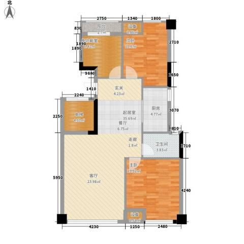 西铁领寓2室0厅1卫1厨92.00㎡户型图