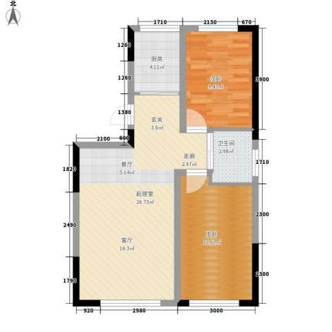 青旅福润家园2室0厅1卫1厨87.00㎡户型图