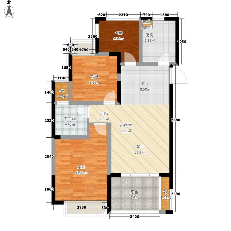 时代广场二期92.00㎡C户型3室2厅