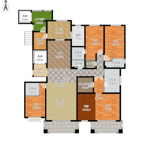 绿地・内森庄园4室1厅5卫1厨380.00㎡户型图