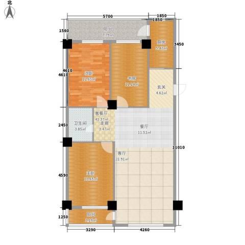 南山学府3室1厅1卫1厨130.00㎡户型图