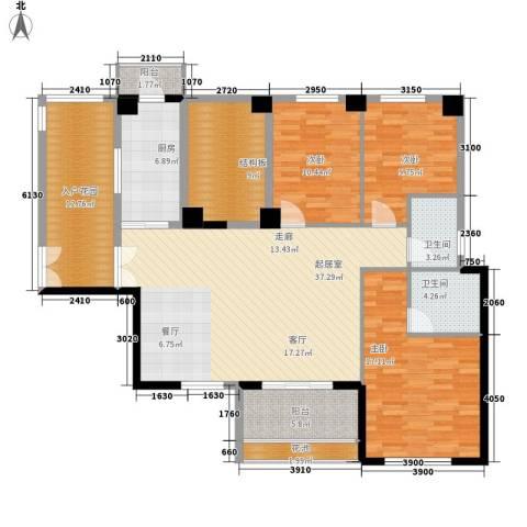 中正花园3室0厅2卫1厨171.00㎡户型图