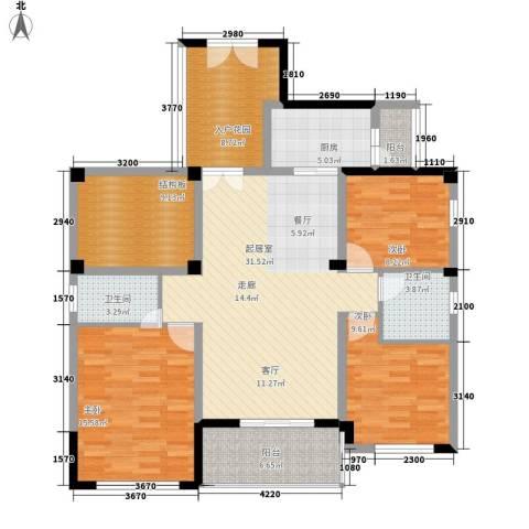 中正花园3室0厅2卫1厨148.00㎡户型图
