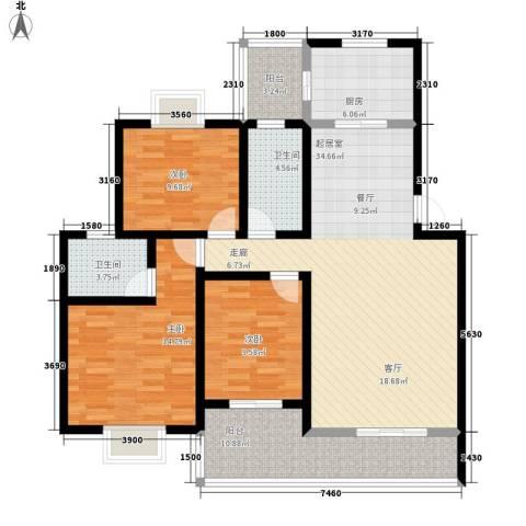 一米阳光美好家园3室0厅2卫1厨141.00㎡户型图