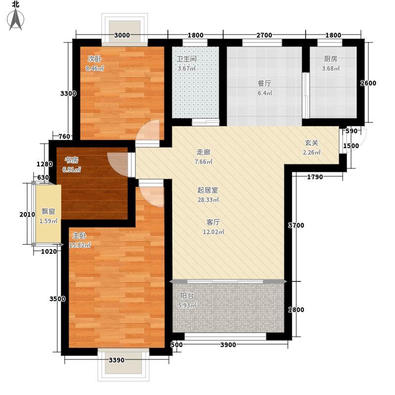 华冶翡翠湾101.49㎡5#、6#楼B4-1户型