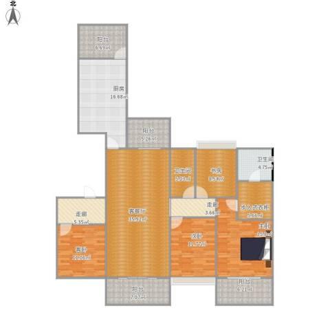 中海九号公馆4室1厅2卫1厨201.00㎡户型图