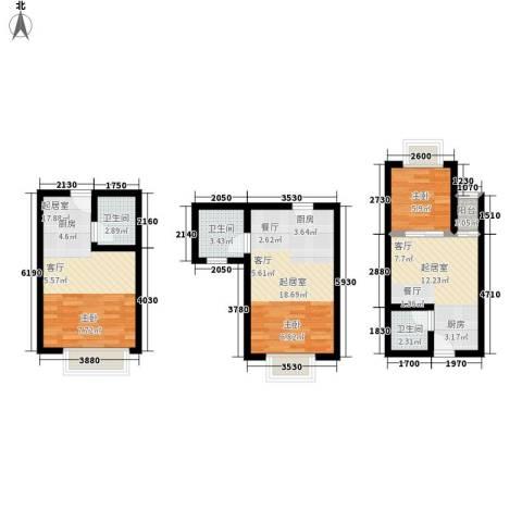 一米阳光美好家园1室0厅3卫0厨94.00㎡户型图