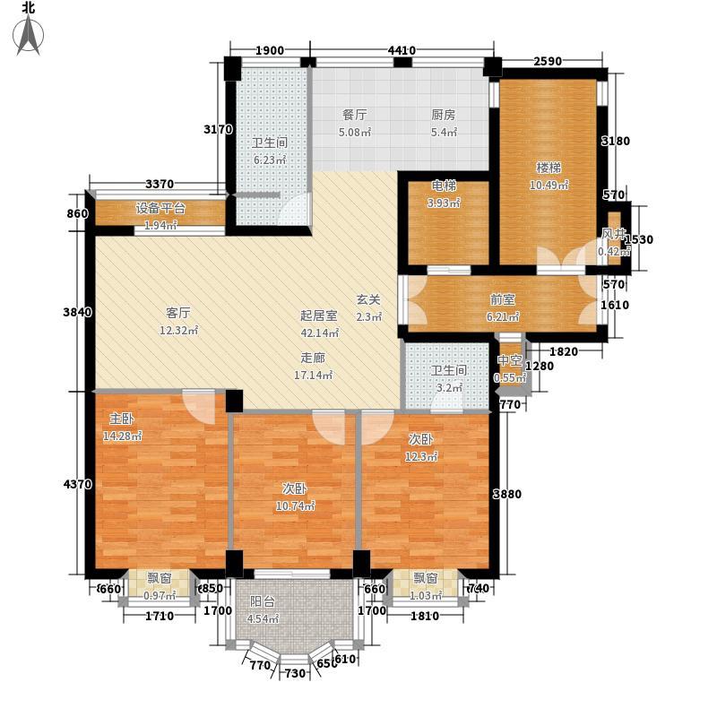 爱斯大厦134.00㎡户型3室2厅
