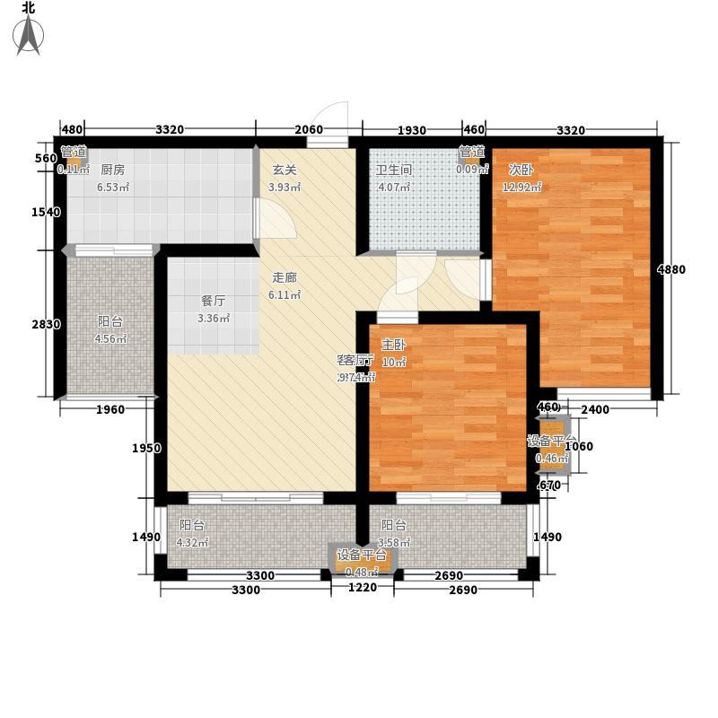 鼎和国际84.23㎡G户型2室2厅
